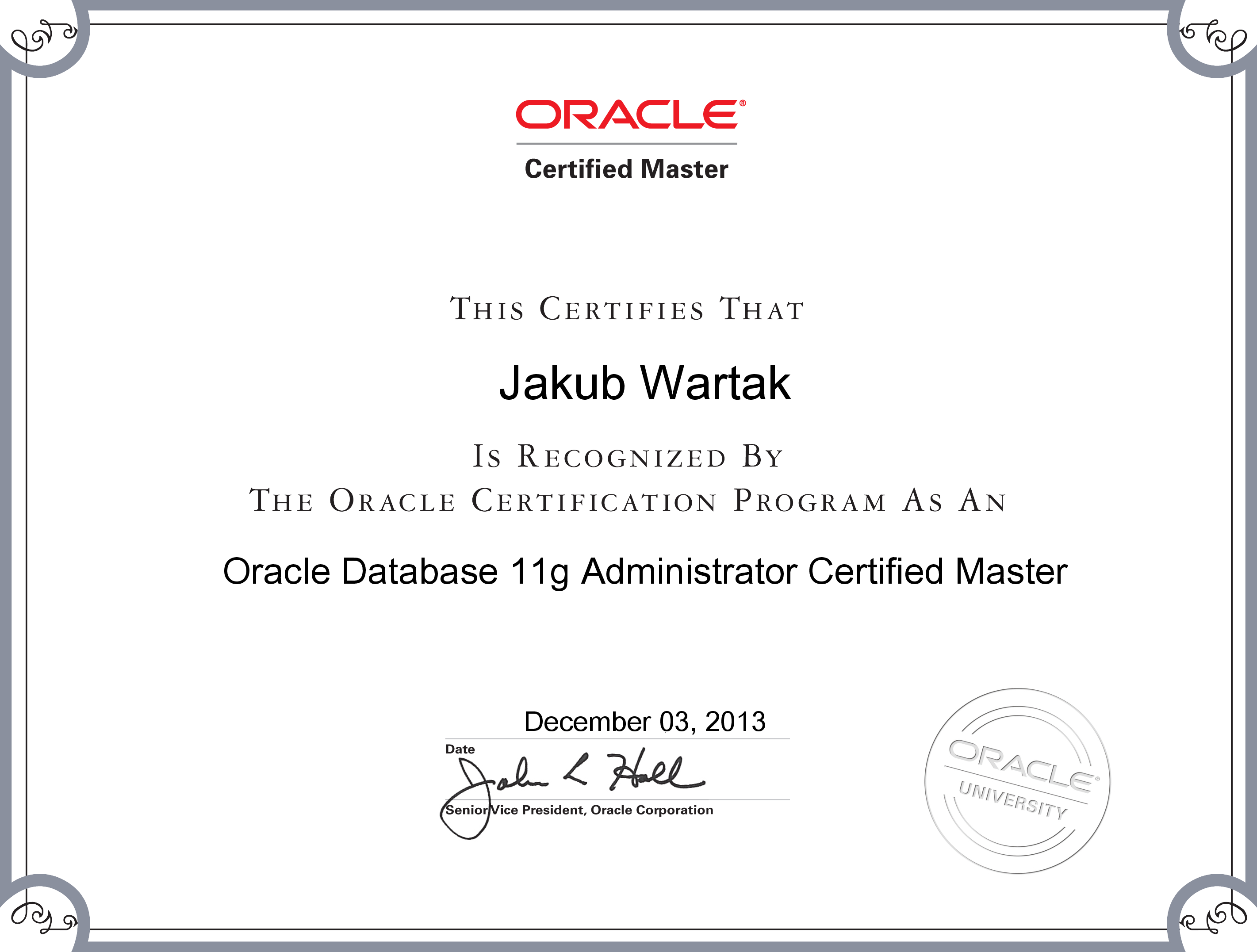 Oracle Certified Master 11g Jakub Wartaks Blog